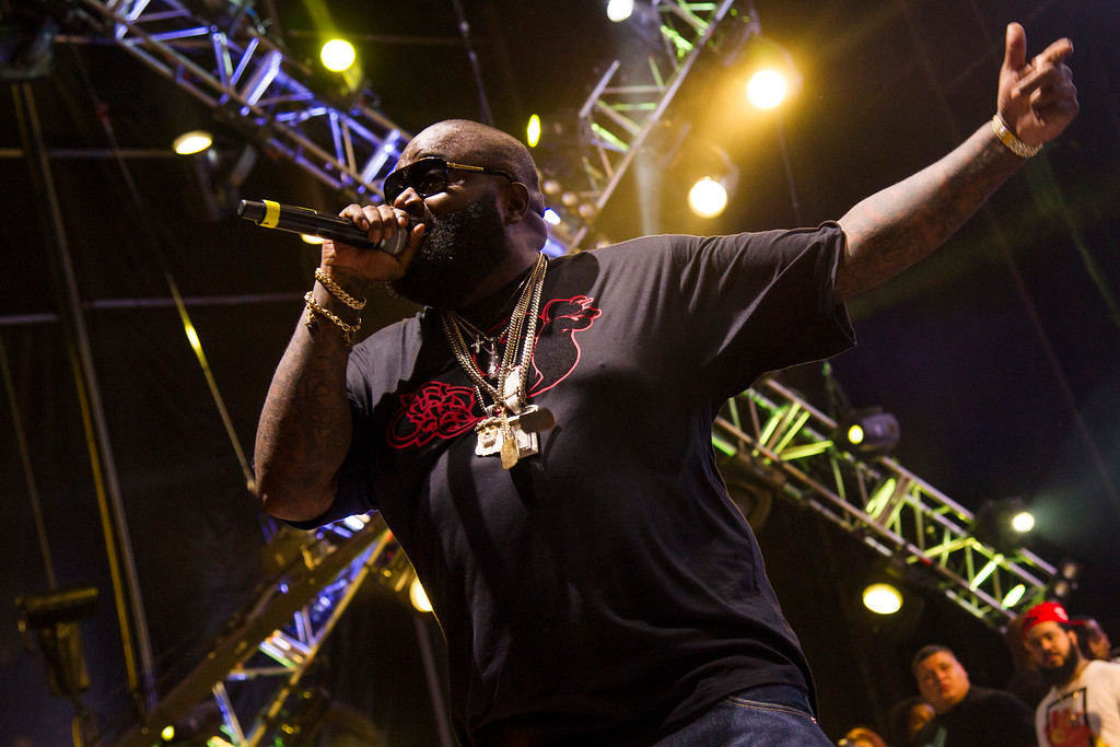 . Rick Ross performs at the Hot 97 Summer Jam XX on Sunday, June 2, 2013 in East Rutherford, N.J. (Photo by Charles Sykes/Invision/AP)
