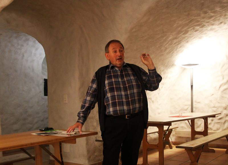 Isidor Lustenbergers Erzählungen begeisterten. Foto Bruno Bieri
