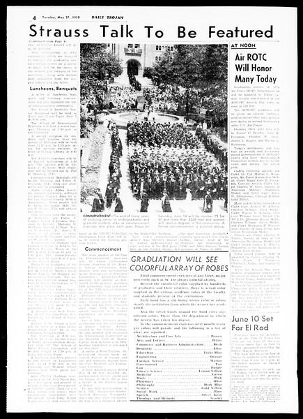 Daily Trojan, Vol. 49, No. 125, May 27, 1958