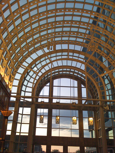 Dusk in the beautfiul atrium at #TasteCLT . It was a beautiful night and a successful event.