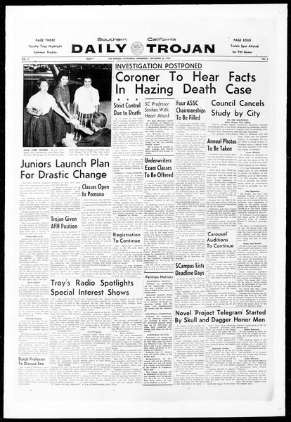 Daily Trojan, Vol. 51, No. 3, September 23, 1959