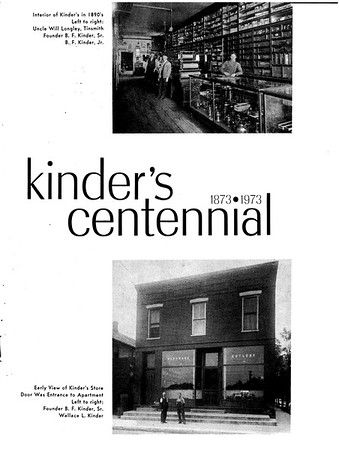 Kinder's Hardware Centenial Booklet