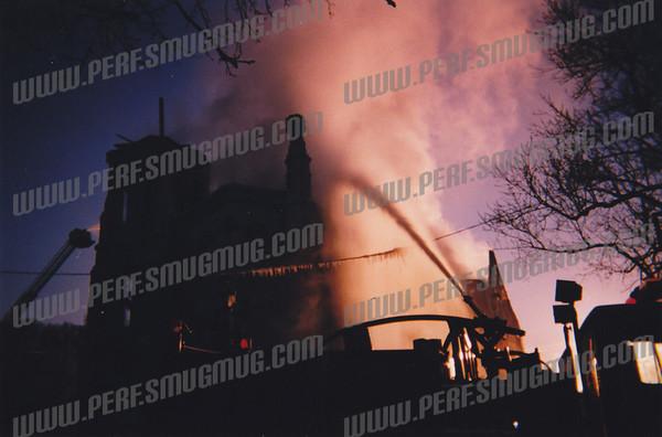 Second Presbyterian Church Fire Jan 19, 2000