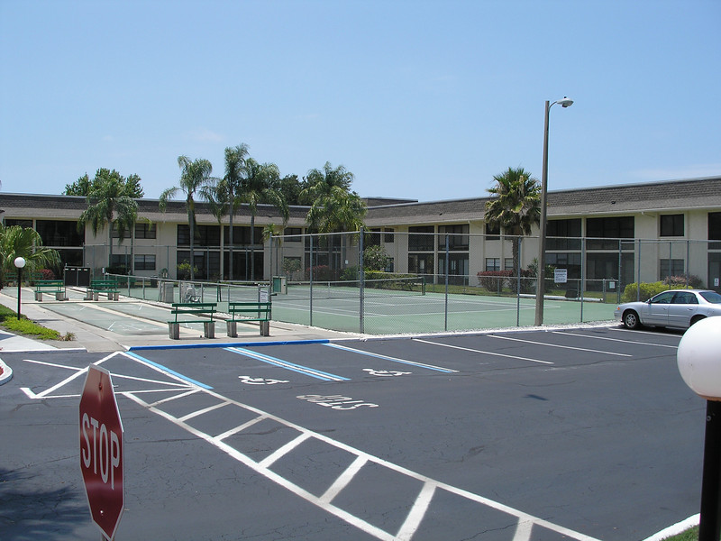 Shuffle Board and Tennis Court