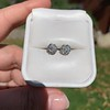 1.70ctw Old European Cut Diamond Clover Stud Earrings, GIA H-I SI 41