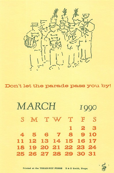 March, 1990, Tread-Not Press