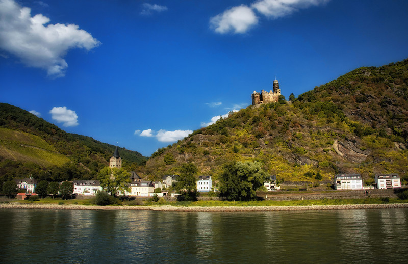 Castle along the Danube River