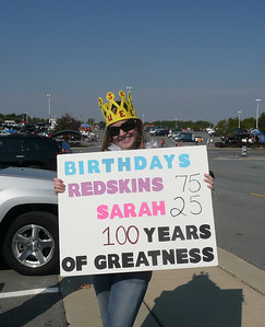 Redskins and Sarah's Birthday Tailgate