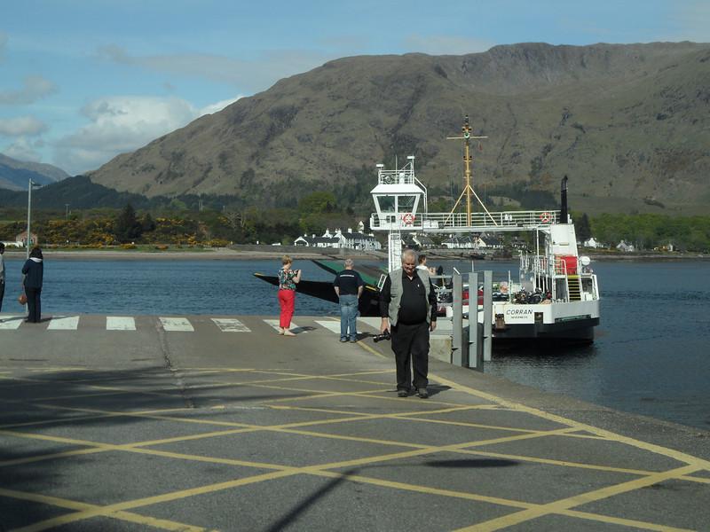 Short Corran ferry crossing over loch Linnhe
