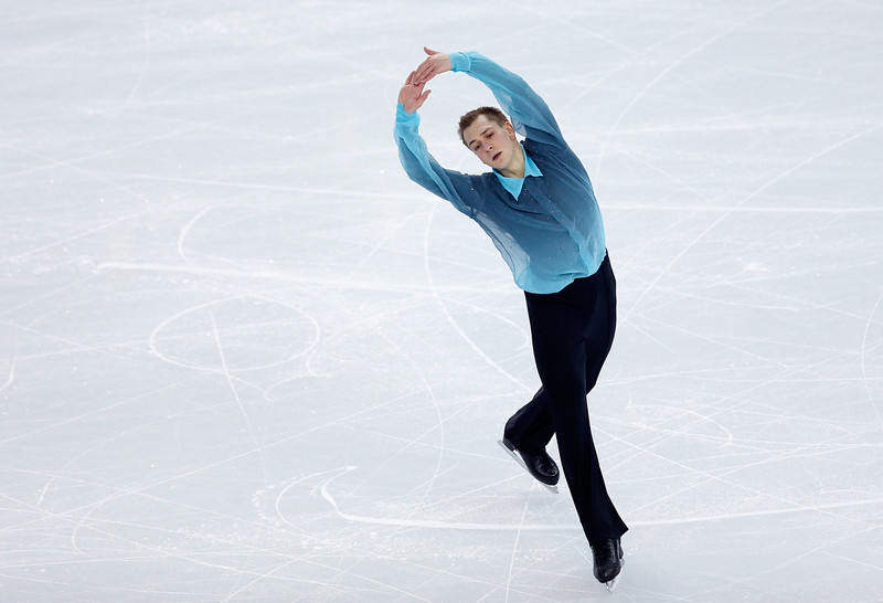 . Peter Liebers of Germany competes in the Figure Skating Men\'s Short Program during the Sochi 2014 Winter Olympics at Iceberg Skating Palace on February 6, 2014 in Sochi, Russia.  (Photo by Matthew Stockman/Getty Images)