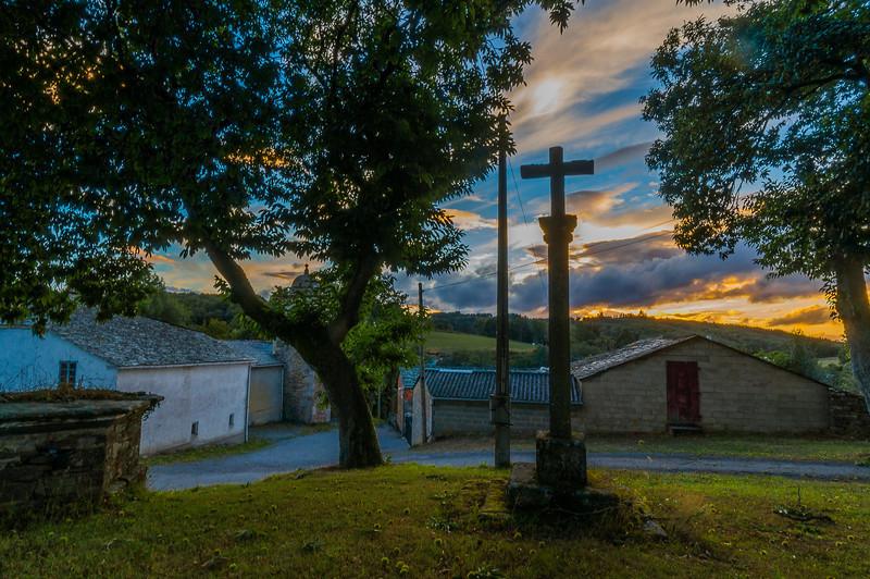 La Iglesia de Valonga, llegando a Meira, Lugo Spain