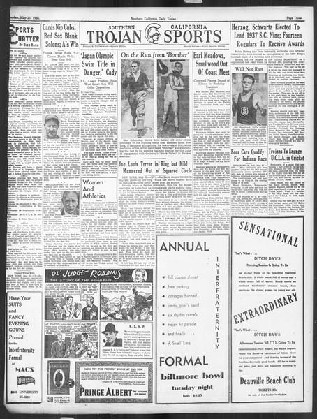 Daily Trojan, Vol. 27, No. 144, May 26, 1936