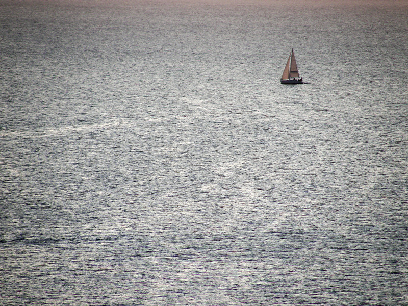 Sailing at Sunset - La Maddalena Island, Olbia-Tempio, Italy - August 15, 2009