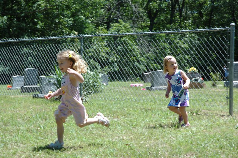 Mary and Madelynne race back to Karen.