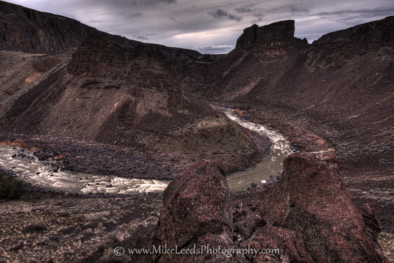 Half Mile Butte and Half Mile Rapid, Three Forks to Rome section of the Owyhee River in Oregon.
