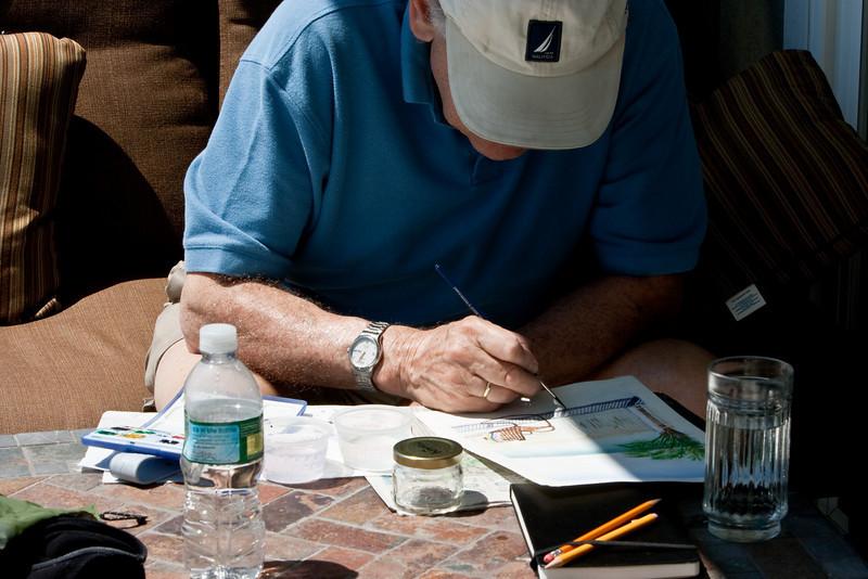 Richard painting.