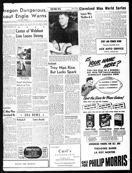 Daily Trojan, Vol. 40, No. 22, October 12, 1948
