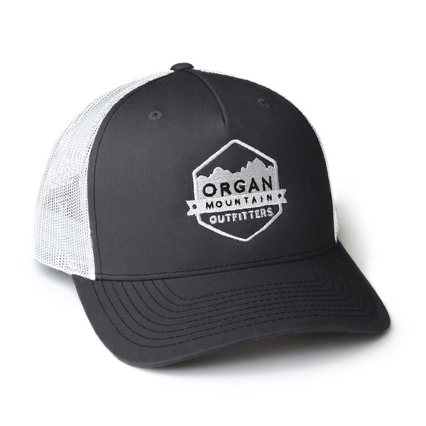 Organ Mountain Outfitters - Outdoor Apparel - Hat - Snapback Trucker Cap - Charcoal White.jpg