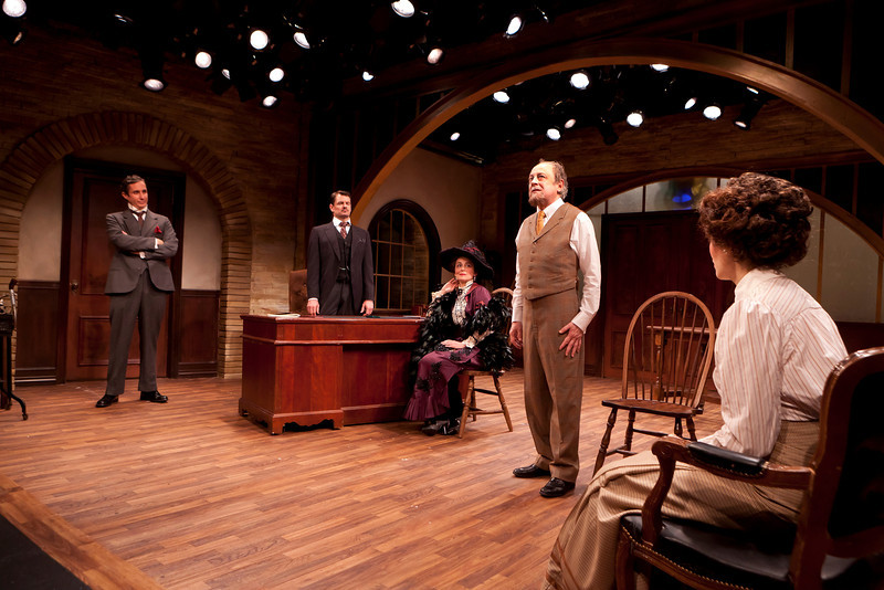 Marc Vietor, Rob Breckenridge, Birgit Huppuch, Jeremy Lawrence and Ellen Adair in WHAT THE PUBLIC WANTS by Arnold Bennett  Photo: Richard Termine