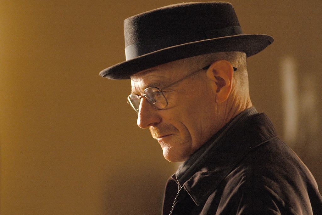 """. In this TV episodic image released by AMC, Bryan Cranston portrays Walt White in a scene from the season two premiere of the AMC original series, \""""Breaking Bad,\"""" airing Sunday, March 8, 2009 at 10:00p.m. EDT. (AP Photo/AMC, Cathy Kanavy)"""