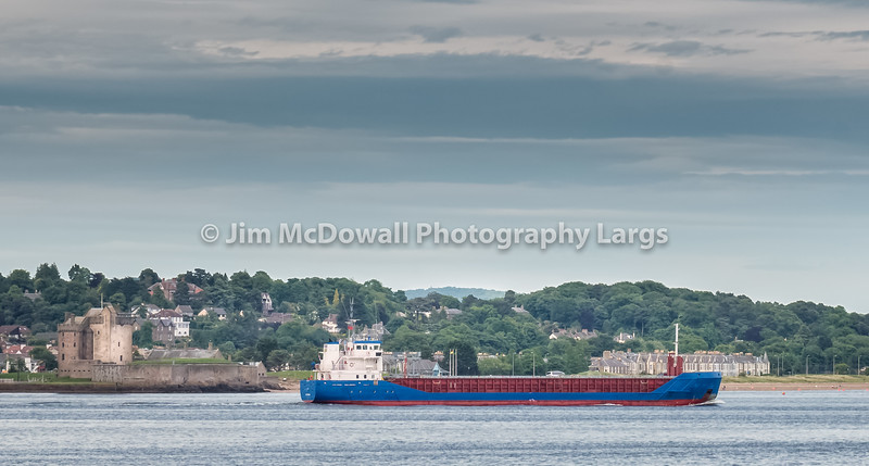 Broughty Castle Dundee & Passing Ship