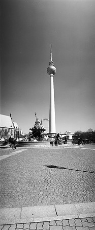 Berlin Schwarz Weiß Panorama