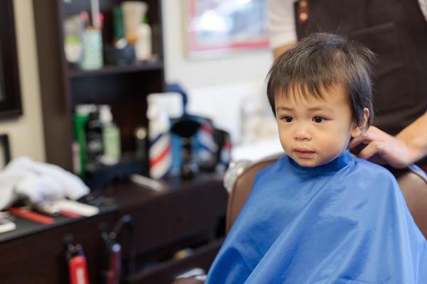 Johsua First Barber Haircut