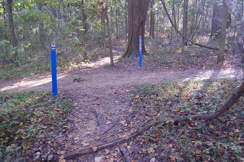 At TM #30, we're crossing the multiuse trail again. You may turn left to head toward, the West Levee, Piney Z Lake, and points east.