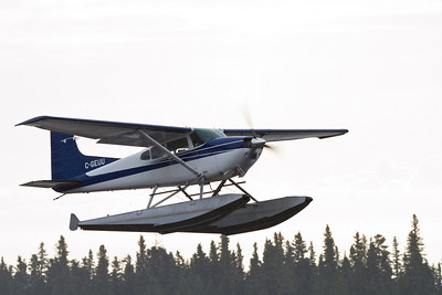 Cessna Skywagon taking off 2010 July 11