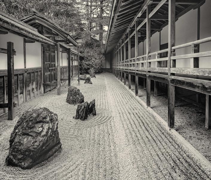 Rock Garden at Kongobuji Temple on Koya Mountain