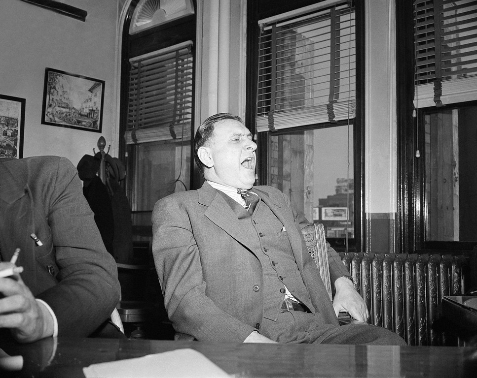 . Otto Spiller, a Boston auditor, who served in that capacity for the Cocoanut Grove night club, testified as to the records of the business at an inquest into the cause of flash fire which took nearly 500 lives in November, in Boston, Dec. 8, 1942. (AP Photo/Abe Fox)