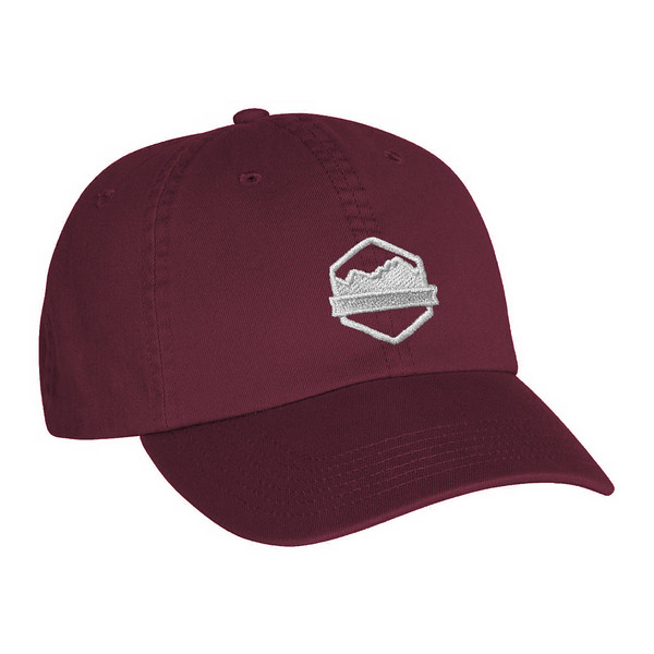Organ Mountain Outfitters - Outdoor Apparel - Hat - Logo Dad Cap - Maroon.jpg