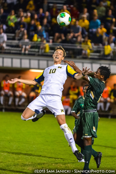 2nd Half of UM Men's Soccer Vs USF 9-6-13