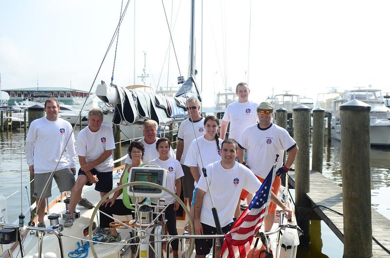 Before Crew photo: Jon Deutsch, Mick, Anne, Glenn, Norda, Jerry, Jenna, Matt, Ben, John