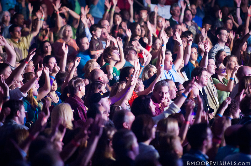 "The crowd sings along with Brandon Heath as he performs in support of his upcoming album ""Leaving Eden"" on October 23, 2010 at Countryside Christian Center in Clearwater, Florida"