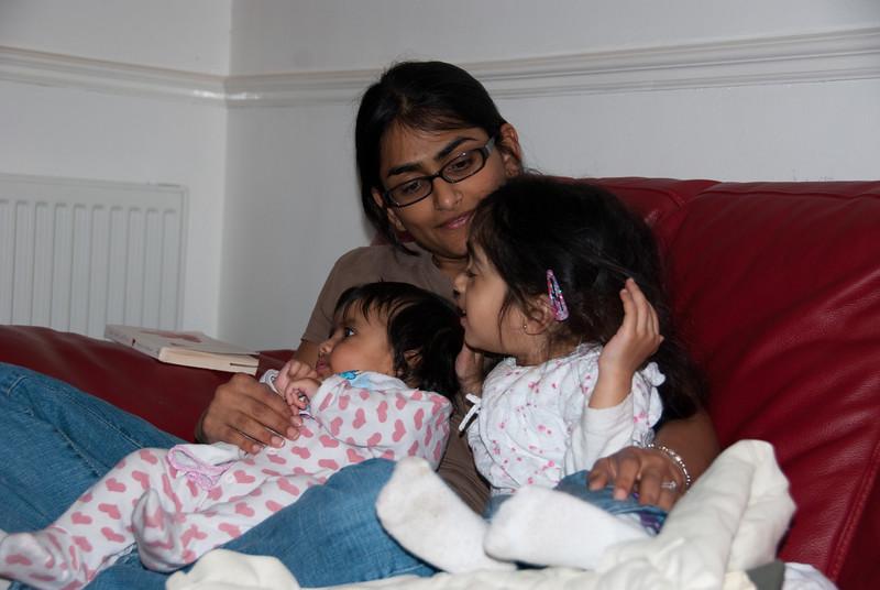 Bhumisha with Shyla and Tavisha.