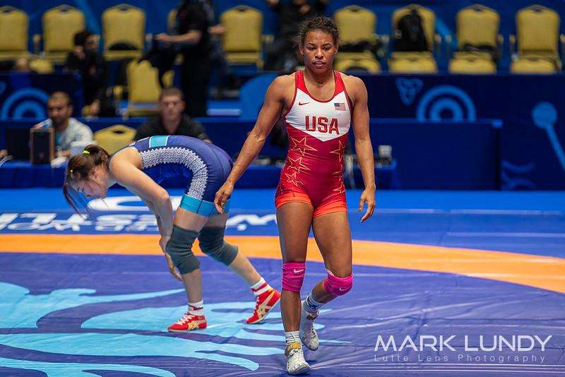 Quarterfinal: Jacarra Gwenisha Winchester (United States) over Bolortuya Bat Ochir (Mongolia)  •  TF 13-2 - 2019 World Championships