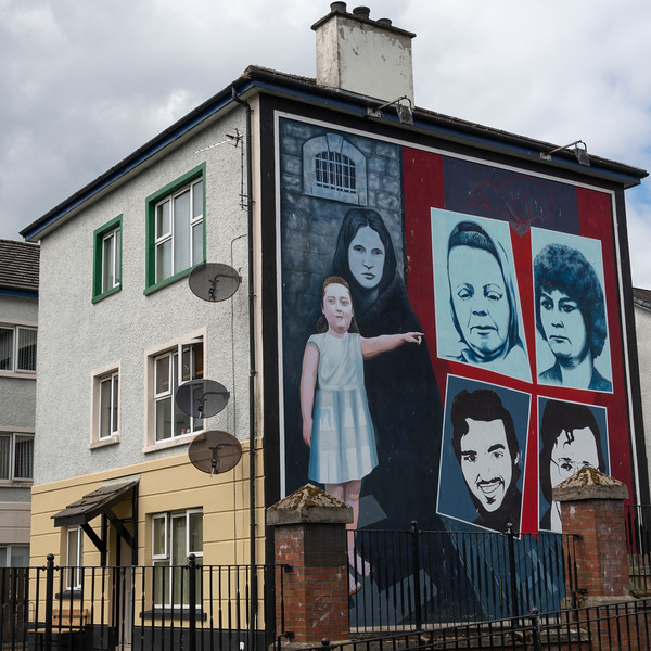 Hunger Strike - painting of several activists who went on hunger strikes during The Troubles, Free Derry, Londonderry, Northern Ireland, United Kingdom