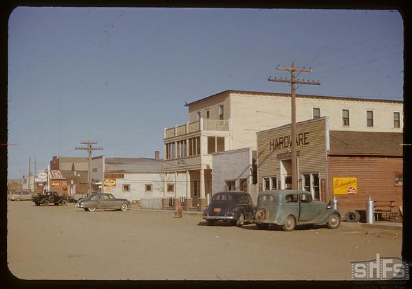 Street scene. Val Marie. 10/13/1950