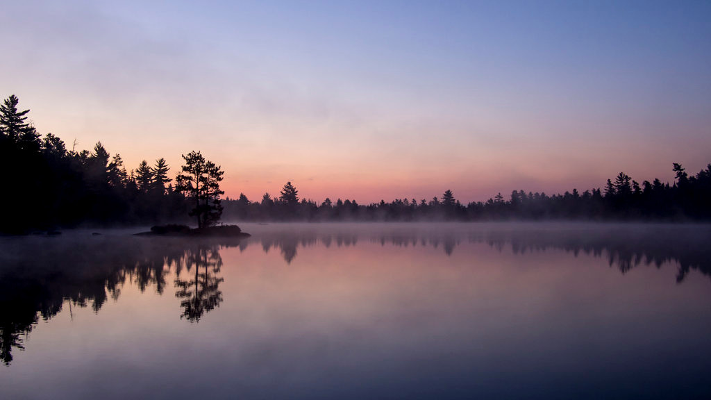 . Dawn arrives Sept. 25, 2013, at South Hegman Lake in the Boundary Waters Canoe Area Wilderness. (Pioneer Press: Andy Rathbun)