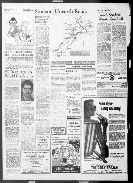 Daily Trojan, Vol. 45, No. 26, October 26, 1953