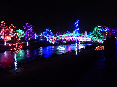 Christmas lights in Caldwell 2017
