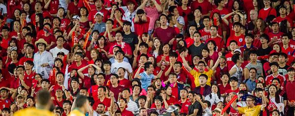 A glint of gold amongst a sea of red   2015 Asian Cup Final Match   Australia vs South Korea   Stadium Australia   January 31, 2015 in Sydney, Australia   Image: Anita Milas