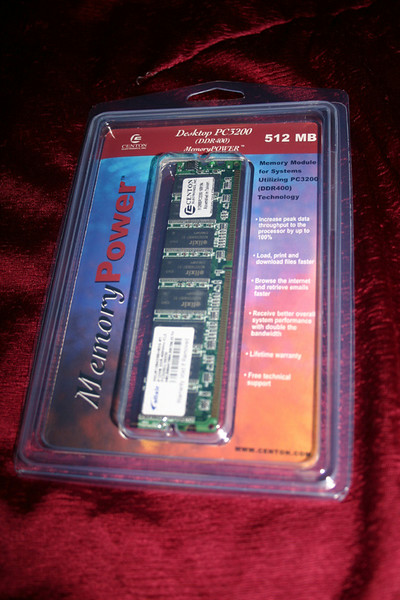 RAM - 512MB PC3200 DDR400 (another 512MB will come later)