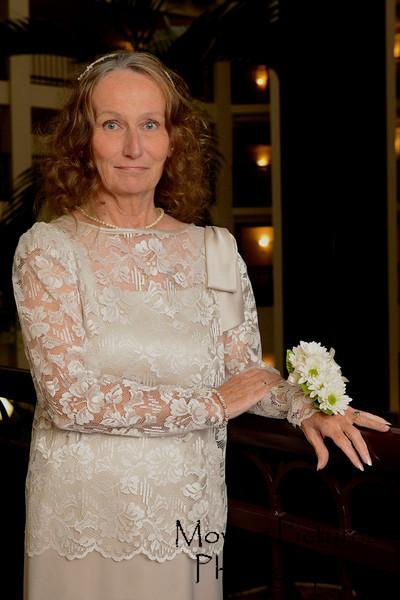 Gloria, proud mother of  the groom