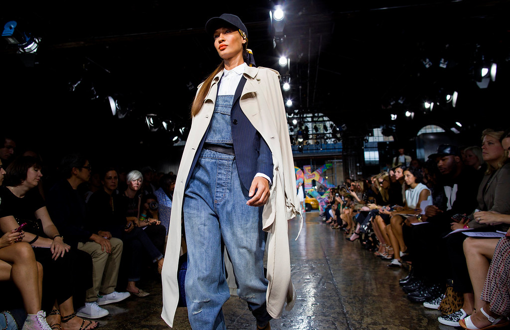 . The DKNY 2014 collection is modeled during Fashion Week in New York, Sunday, Sept. 8, 2013. (AP Photo/Craig Ruttle)