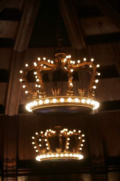 """The unique chandeliers of the Hotel del Coronado's Crown Room, designed by onetime guest Frank Baum, author of """"The Wizard of Oz"""" series"""