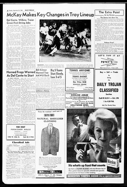 Daily Trojan, Vol. 52, No. 2, September 20, 1960