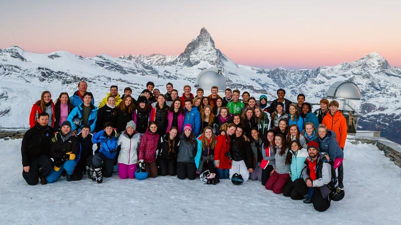 Class of 2016 at Gornergrat