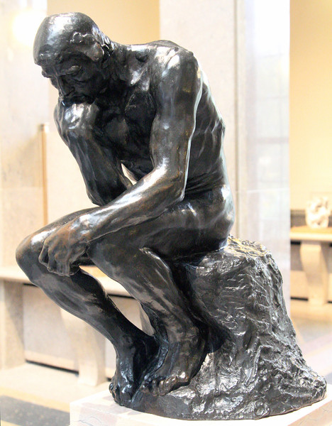Rodin's The Thinker (a smaller indoor version)